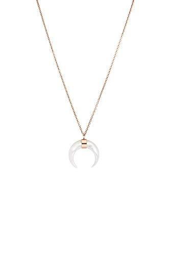 Faye - Seashell Moon Necklace Roségold Halskette für Damen - Aus hochwertigem Edelstahl - Kette für Damen - Schmuck