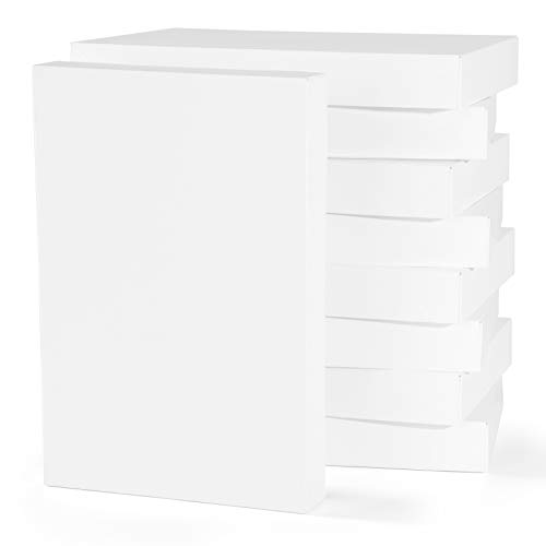 MESHA 12 PACK Cardboard Shirt Gift Boxes Large Gift Boxes with Lids For Presents, Clothes, Sweater, Robe 14.25'X 9.5'X1.8' White Wrapping Clothing Boxes For Hanukkah, Father's Day, Birthdays, Holiday,