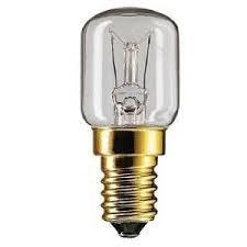 2 x Philips 25 Watt E14/SES Ofen Lampen Licht Birne 300 Grad - klein Verschlusskappe FASSUNG