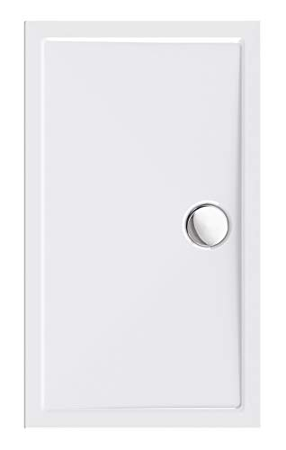 Calmwaters® - Modern Select - Flache Rechteck-Duschwanne in 120 x 70 x 2,5 cm aus Acryl-Kunststoff mit 90 mm Abfluss- 01SL3345