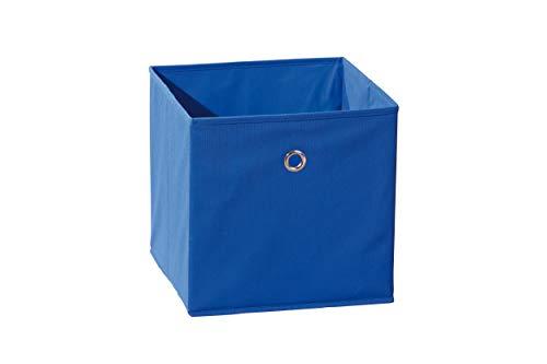 Inter Link Faltkiste Faltbox Faltbare Aufbewahrungsbox mit Metallöse aus Stoff in Blau