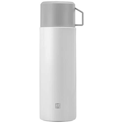 Zwilling Thermo Isolierflasche, Integrierte Tasse, Thermokanne, Doppelwandisolierung, 1 L, Höhe: 28, 1 cm, Weiß