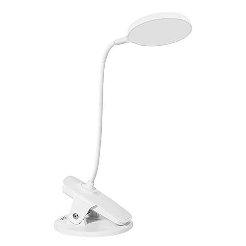 Klemlamp, leeslamp, USB, boek, klemlamp, met 3 helderheid, oogbescherming, kindertafellamp, nachtlampje voor lezen in bed