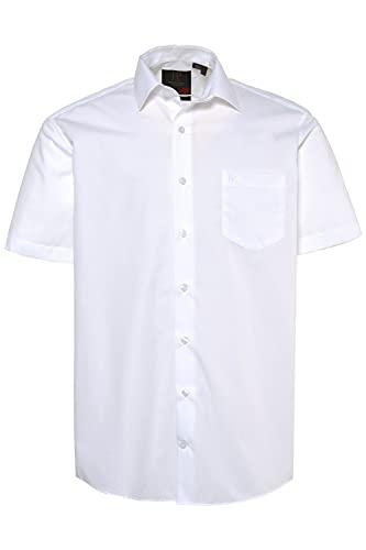 JP 1880 Herren große Größen L-8XL bis 8XL, Halbarm-Hemd, Businesshemd, Popeline-Gewebe, bügelfrei, Kent-Kragen, Brusttasche weiß 5XL 713990 20-5XL