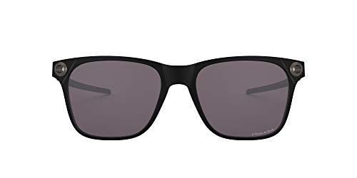 Oakley Men's OO9451 Apparition Square Sunglasses, Matte Black/Prizm Grey, 55 mm