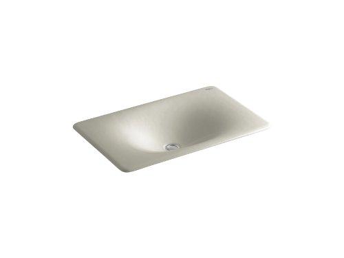 "KOHLER K-2826-G9 Iron/Tones Cast Iron Undercounter/Self-Rimming Bathroom Sink, 24-3/4"" X 15-5/8"", Sandbar"