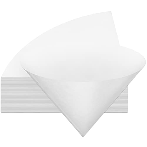 Touman 30 Pieces 10 Inch Non Woven Filter Cones Filter Cooking Oil Paper for Cooking Grease Fryer