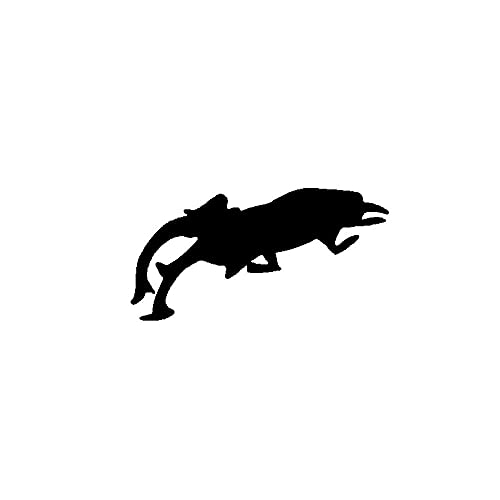 SHMAZ 13,8 Cm * 7 Cm Misterioso Insecto Genial Calcomanía Artística Ingeniosa Pegatina Interesante para Coche Negro/Plateado