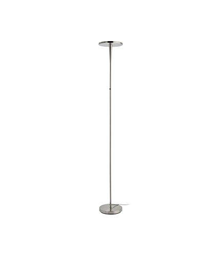 Mathias 3560480 LAMPADAIRE EPURE, Métal, Intégré, 30 W, Acier brossé, D25,5 H180 cm