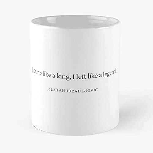 Legendary Football Quote from Zlatan Ibrahimovic – Die beste Tasse hält die Hand ca. 35 ml aus Marmor-Keramik, Weiß