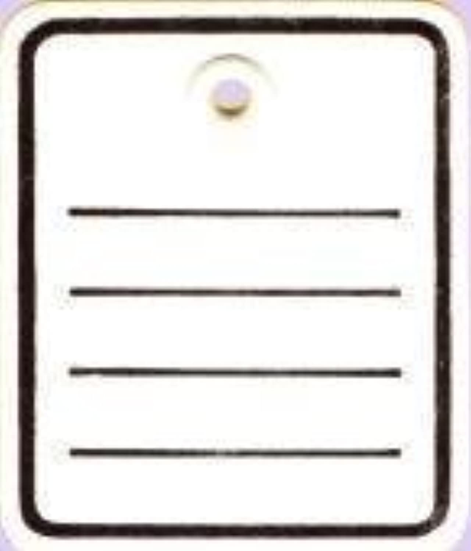 Kartonetiketten bedruckt (3.000 Karton Etiketten mit Öse) 40 x 50 mm B01N20OC2U   Outlet