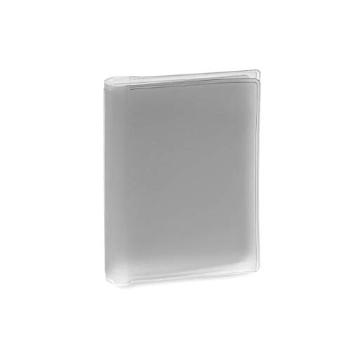 Tarjetera de Plástico PVC Transparente con 6 Compartimentos Práctica Funda para Guardar Tarjetas (Gris)