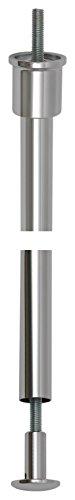 Porro 202500R Baldachin-Abhängung ø 20 mm Beta, Rohrlänge 900 mm, Messing verchromt poliert