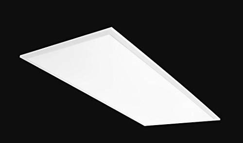 RAB Lighting EZPAN2X4-50N/D10 50W Recessed Drop Ceiling Troffer | 4000K White Edge-LIT 5952 Lumens-Dimmable & Easy Installation 2x4' LED Flat Panel Light