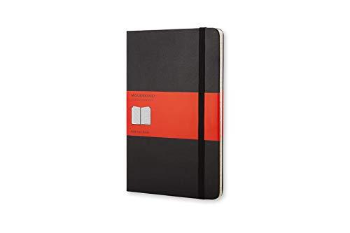 Moleskine Address Book, Rubrica Telefonica Alfabetica per Ufficio, Copertina Rigida, Large 13 x 21 cm, Colore Nero, 240 Pagine