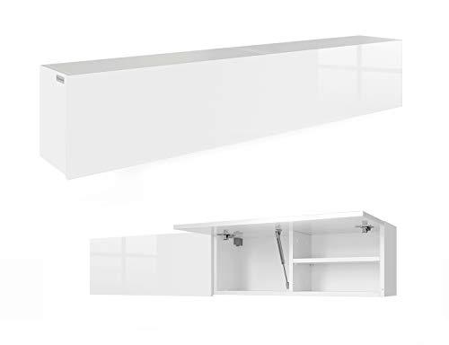 RODRIGO PlatanRoom Badschrank weiß schwarz 160 (2x80) x 30 x 25 cm breit Badmöbel Badezimmer Hängeschrank Schrank Hänger Hochglanz