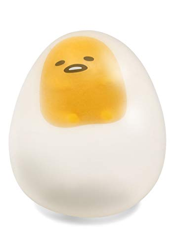 Sanrio Gudetama Lazy Egg Yolk Cute Character In Sticky Stretchy Water Egg Squishy Toy (Clear, 2.5 Inch) [Kawaii Squishies for Party Favors, Stress Balls, Birthday Gifts for Kids, Boys, Girls, Adults]
