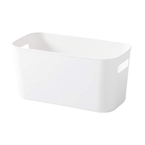 TOPBATHY Panier de rangement en plastique Rangement Organisateur de bureau Bac Divers Accessoires pour salle de bain à domicile (Blanc)