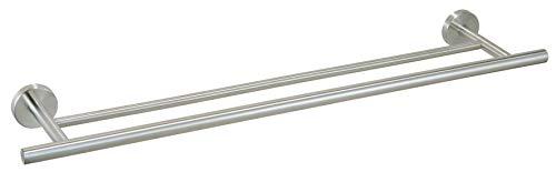 Ribelli Handtuchhalter 2-armig, doppelte Handtuchstange Edelstahl mit ca. 60 + 70 cm Länge - 2 Stangen für Handtücher Badstange als Badetuchhalter im Badezimmer