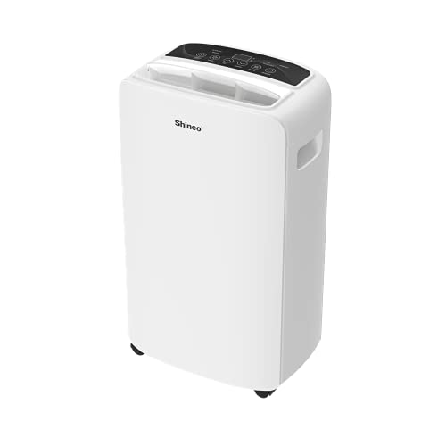 Shinco 2,000 Sq.Ft Dehumidifier with Auto or Manual Drainage & Intelligent Humidity Control, Suitable for Home, Basements, Bedroom, Bathroom, Living Room