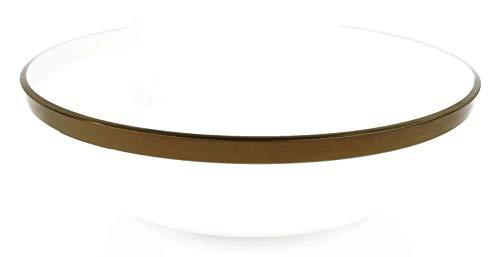 400 ml MOZAIK 4 cuencos de pl/ástico con borde de plateado de color blanco peque/ño 14 cm