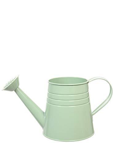 Regadera metálica de estilo vintage, accesorio para el hogar de 2colores (verde pastel o blanco)