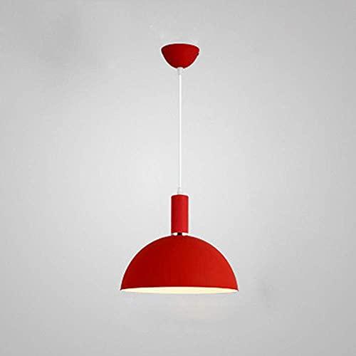 WEM Lámpara colgante redonda de metal con luz de techo Modern Simplicity,...