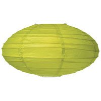 18 in Oval Paper Lantern - Chartreuse