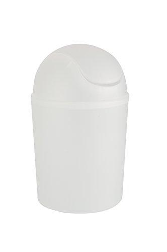 WENKO Schwingdeckeleimer Arktis Weiß 4,5 L Fassungsvermögen: 4.5 l, Polypropylen, 19.5 x 31 x 19.5 cm, Weiß