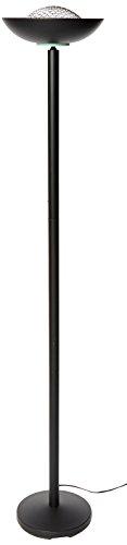 Lite Source LS-80910BLK Basic II 72-Inch 180-Watt Halogen Torchiere Floor Lamp, Black