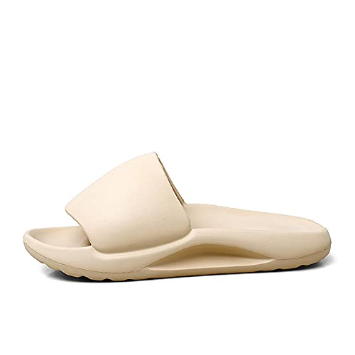 JinHongShop Diapositive estive da Uomo Traspirante Fresco Sandali Spiaggia Flip Flops Pesce Bocca da Uomo Pantofole Leggero YZY Osso Bianco Plus Size 39-48 HHQIYUAN (Color : Beige, Shoe Size : 9.5)