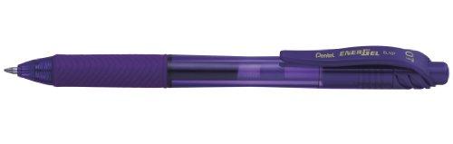 Pentel BL107-VX - Bolígrafo Energel retráctil con punta de bola. Escritura en color violeta