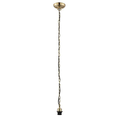 Antiek messing vergulde industriële stijl hangende kettinghanger kabelset