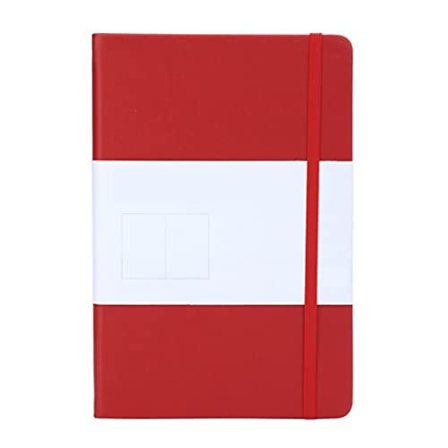 unknows Cuaderno Marginf , A5 Estudiantes Cuaderno Punteado Paso 5mm Cuero PU Cuaderno de Escritura Cuaderno A5 Cuaderno de Oficina Cuaderno de Oficina ForcSchool