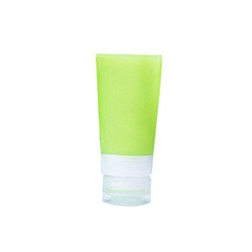 Livecity, leere Silikon-Reisetube, ideal zum Einfüllen von Shampoo / Lotion / Kosmetik, grün, 38ML