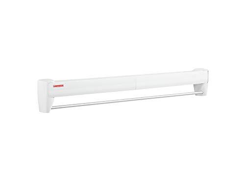 Leifheit Tendedero de pared Telegant 36 Protect Plus, tendedero extensible de diseño compacto, tendedero de ropa plegable óptimo para baño o balcón