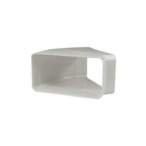 EASYTEC® Flachkanal 45° Bogen waagerecht | System 180 x 95 mm | Kunststoff Rohrbogen waagerecht flach auf flach für Dunstabzugshauben