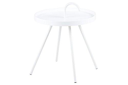 AC Design Furniture Beistelltisch Joan, B: 51 x T:51 x H: 62,5 cm, Metall, Weiss