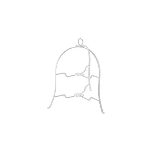 CASUAL PRODUCT ボブスタイル プレートスタンド 2段 WH 直径18~24cmのお皿が使える スペース有効活用 収納に便利 アフタヌーンティー