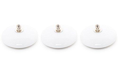 ABC_baño Tapón Lavabo Porcelana 3 Unidades Blanco