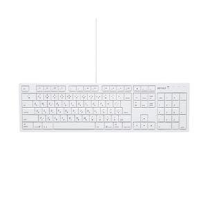 バッファロー(サプライ) BUFFALO フルキーボード USB接続 パンタグラフ Macモデル ホワイト BSKBM01WH