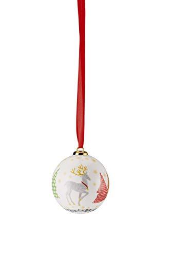 Hutschenreuther Collection Boule de Noël en Porcelaine Multicolore 7 x 7 x 9 cm