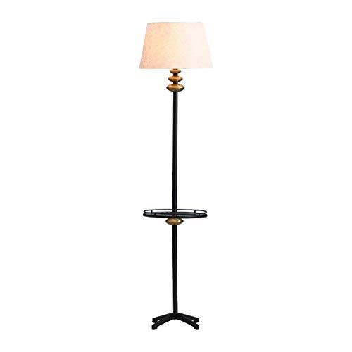 Lámpara de mesa Lámparas de Nightstand Mesa de café de cristal Lámpara de América Hierro forjado dormitorio lámpara de cabecera Tabla vertical con la tabla de la lámpara de lectura del sofá (Color: 16