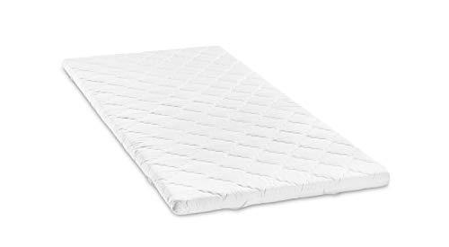 Bodyprotect Matratzenauflage Topper Komfortschaum 140 x 200 x 6 cm, waschbar bis 60 Grad, weiß