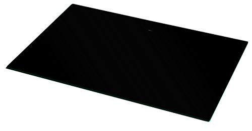 VCM Plateau Rotatif Swing, Verre Noir, 2x60x40 cm
