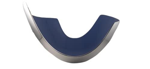 Cuenco, Centro de Mesa, Bol Decorativo - Color azul y plateado - 28x17 cm