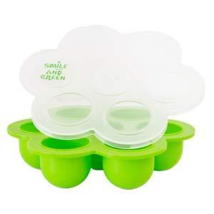 1 multiportion + 12 pots de conservation repas bébé en verre silicone approuve par la norme europeenne LFGB