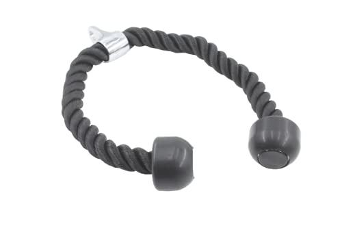 MySports Cuerda para tríceps para torre de cable de 70 cm, con articulación giratoria y tapas de agarre, antideslizante, para tríceps, aprox. 3 cm de grosor, para entrenamiento de fitness (negro, 70)