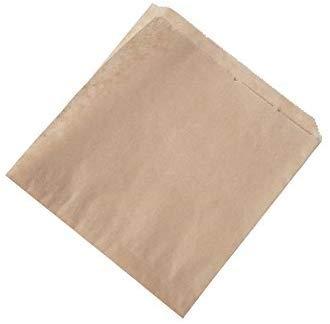 BIOZOYG Bolsas Papel para Snacks I Papel parafinado Hamburguesas I döner Bolsa Biodegradable compostables I Papel Antiadherente sin blanquear I Papel Burger Pack 16x16 cm I 1000 Piezas, marrón