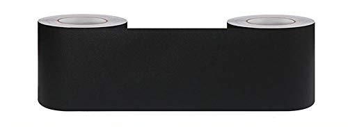 Borde del papel pintado Starlight negro Auto Adhesivo del Papel Pintado del PVC Cenefa autoadhesiva para decoración de pared de cocina...